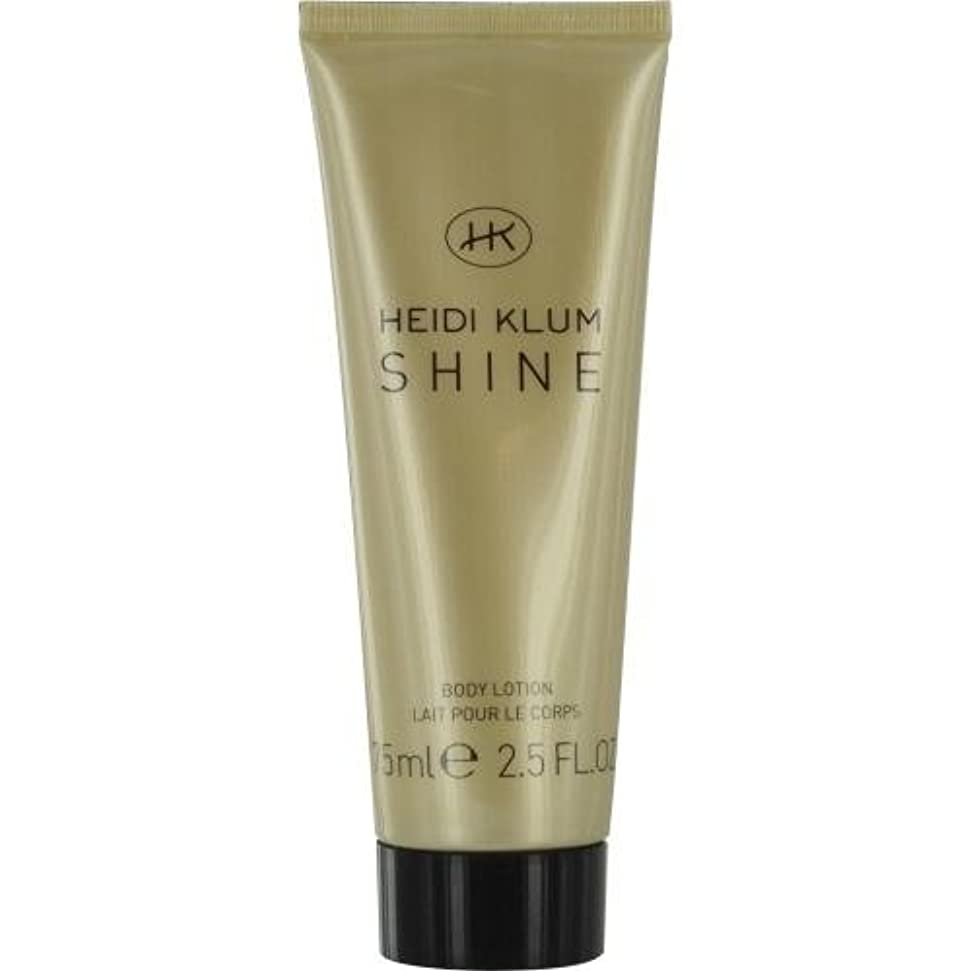 ストレンジャー胃修正HEIDI KLUM SHINE by Heidi Klum BODY LOTION 2.5 OZ for WOMEN by Heidi Klum