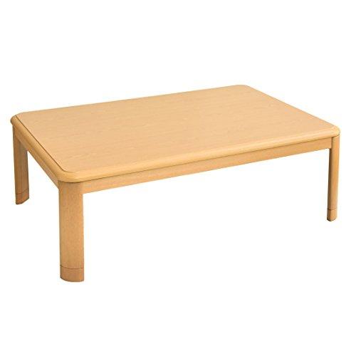 タンスのゲン こたつテーブル 長方形 120×80cm 木目...