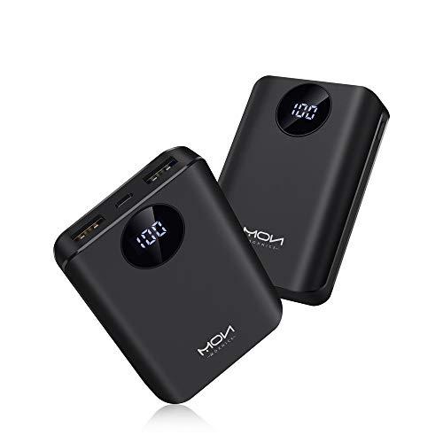 MOXNICE モバイルバッテリー 10000mah 最小&...