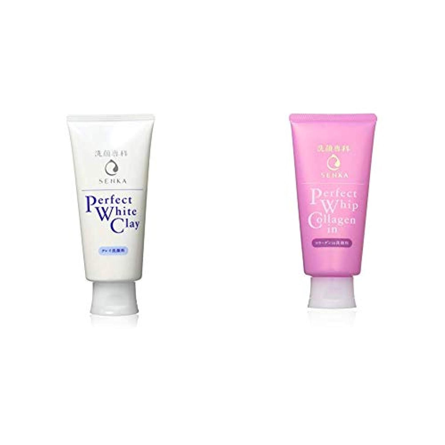 無法者土砂降りサミット洗顔専科 パーフェクトホワイトクレイ 洗顔料 120g & パーフェクトホイップ コラーゲンin 洗顔フォーム 120g