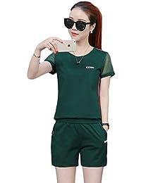 レディース セットスーツ Tシャツ ハーフパンツ カジュアル アウトドア ランニング サイズ豊富 ルームウェア スポーツウェア