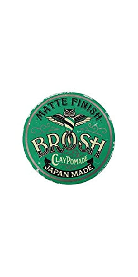 文献寄託漏斗BROSH (ブロッシュ) BROSH mini CLAY POMADE 40g 水性ポマード 整髪料 マット ミニサイズ