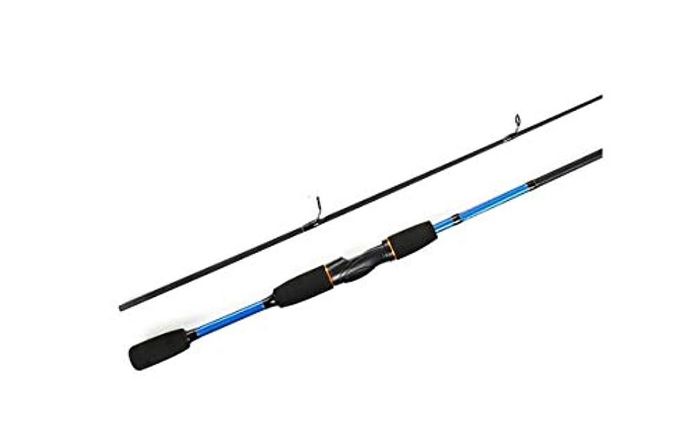 不利爆発する銅1.8m釣り竿 カーボンスピニング釣り竿 スピニング釣り竿 2セクションルアー キャスティングポール スカイブルー 1STM
