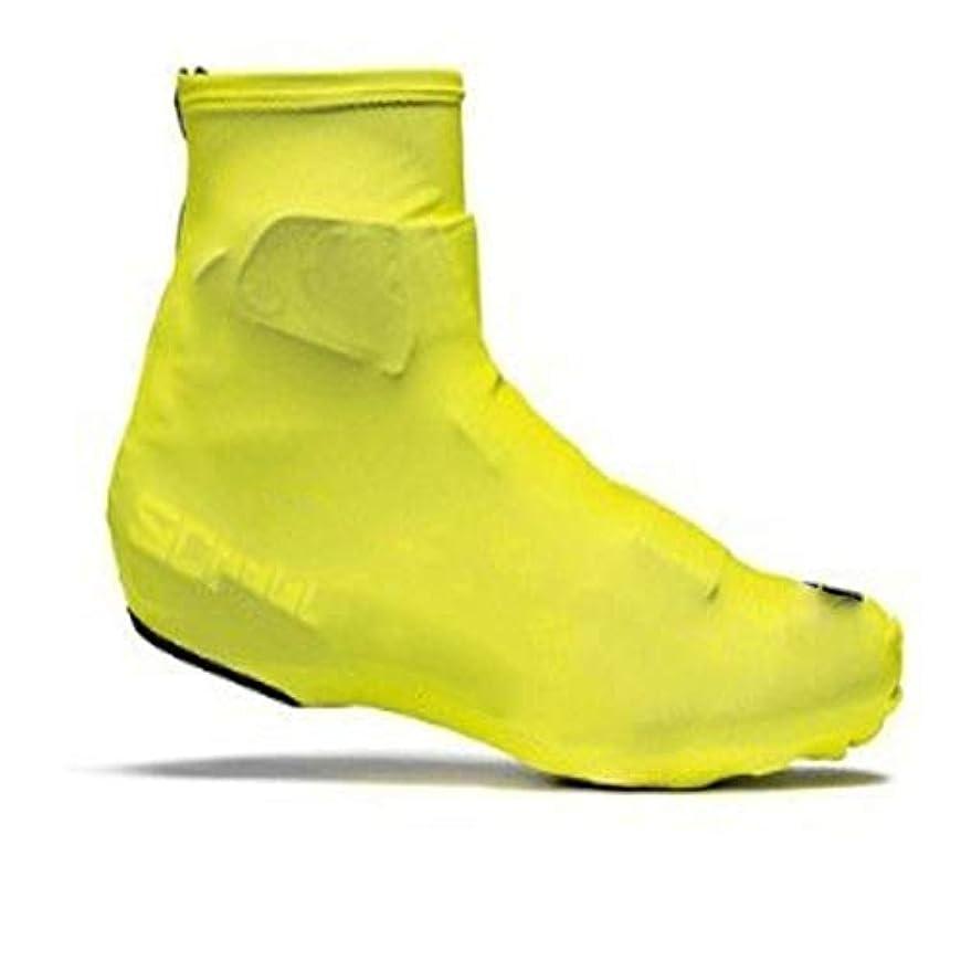 荒らすレビュアー確執サイクル防水オーバーシューズ、アウトドアサイクリングハイキング暖かい防風靴カバー雨雪ブーツプロテクター足ゲイターブラック (Color : Yellow, Size : EU-42)