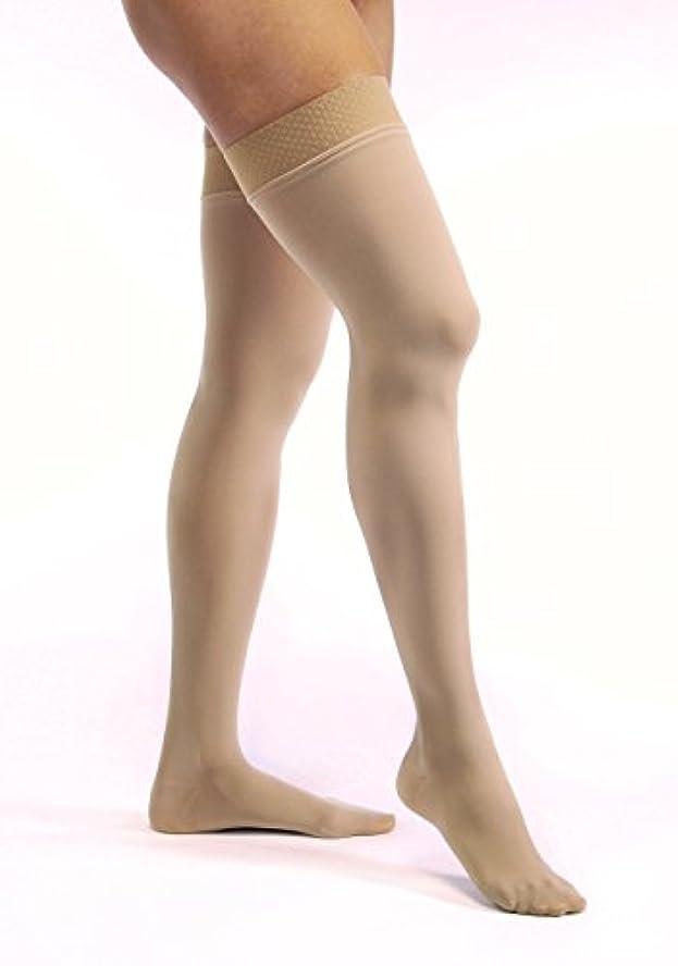 原稿印をつける惑星Jobst 115464 Opaque Closed Toe Thigh High 20-30 mmHg Firm Support Stockings - Size & Color- Honey Small
