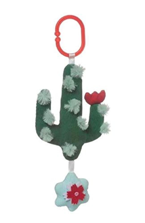 ginsengtoys 10インチ ロック&ラトル ブルー サボテン歯 ラトル 赤ちゃんのおもちゃ ギフト キッズ