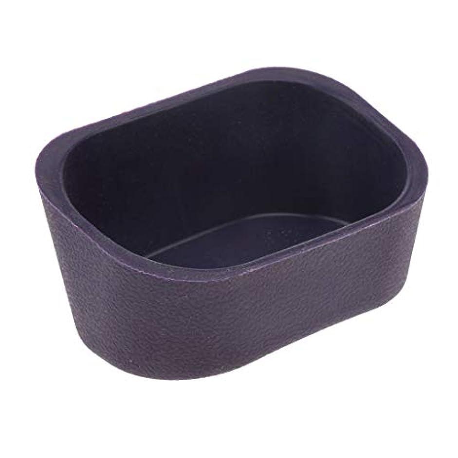 水フローマイナスHellery 大広間の毛のためのシリコーンのシャンプーボールの首の残りの枕パッドは流しを洗います - 紫