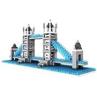 Micro Blocks, British Tower Bridge Model, Small Building Block Set, Nanoblock (ナノブロック) Compatible, Not Lego (レゴ) Compatible ブロック おもちゃ (並行輸入)