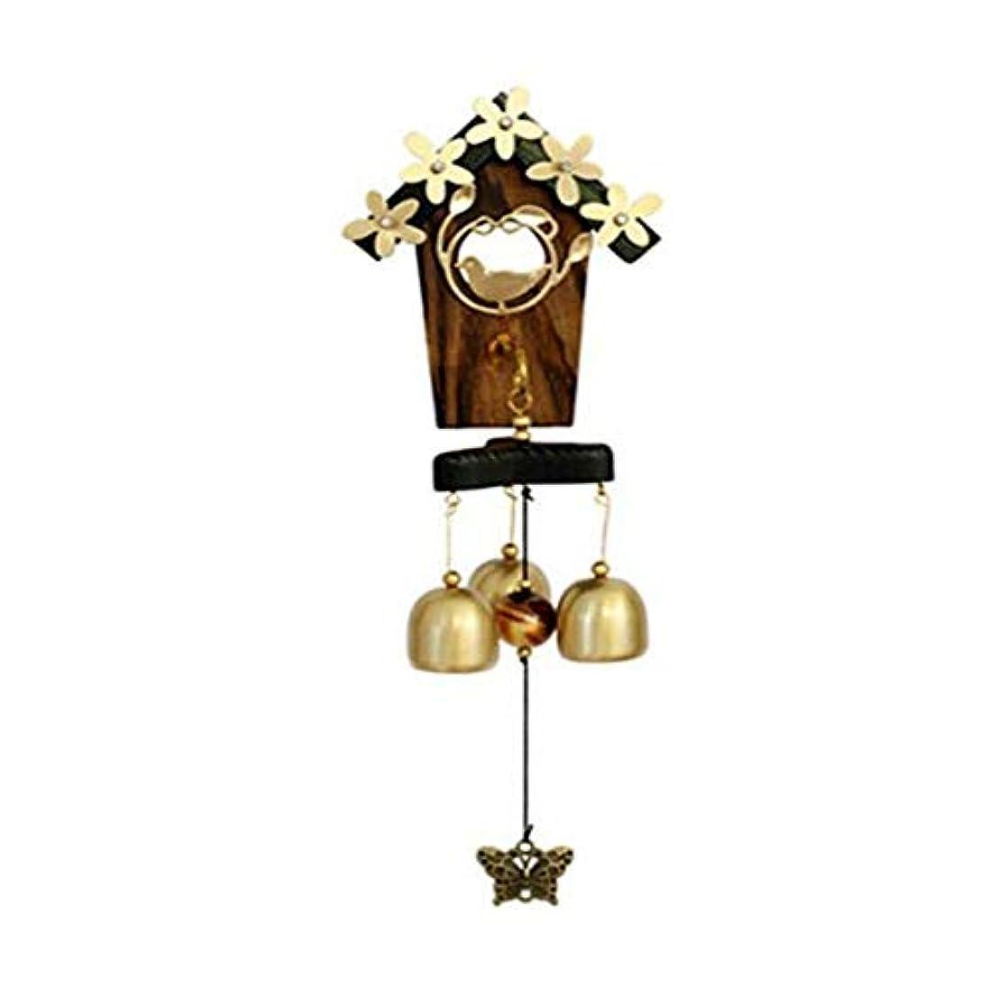 シャット有彩色のオークランド風チャイムは、愛の巣の風鈴は金属工芸、バレンタインデーの誕生日ギフト、ホームデコレーション、サイズ、35センチハンギング (Size : 35cm)