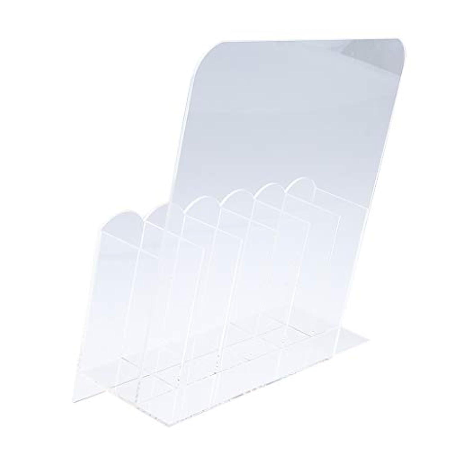 収縮調和のとれた電球SM SunniMix 収納ボックス 6グリッド ネイル収納 マニキュアツールオーガナイザー