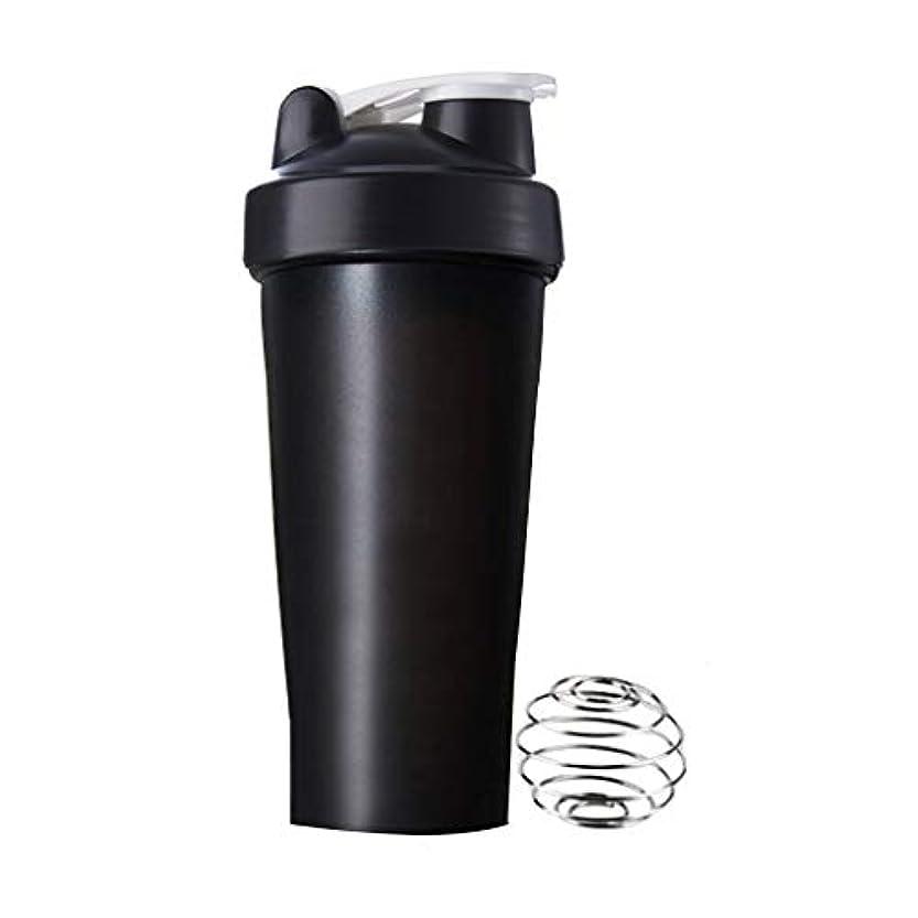 プロテスタント安息持つSports Pro プロテインシェイカー 600ml シェーカーボトル (ブラック)