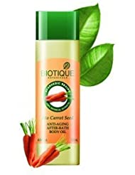 Biotique Bio Carrot Seed Anti-Aging After-Bath Body Oil 120 Ml (Ship From India)