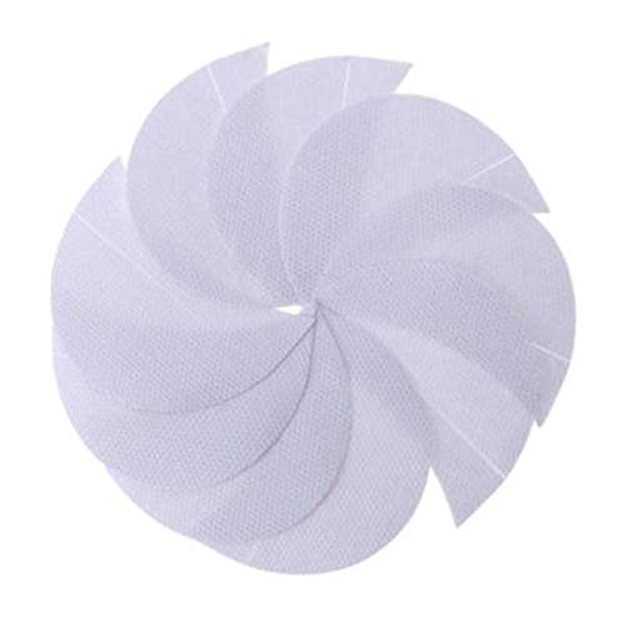 二週間信仰換気Rabugogo 100個/袋不織布アイシャドーシールドアイシャドージェルパッドパッチアイシャドーステンシル防止まつげエクステ化粧品残留物