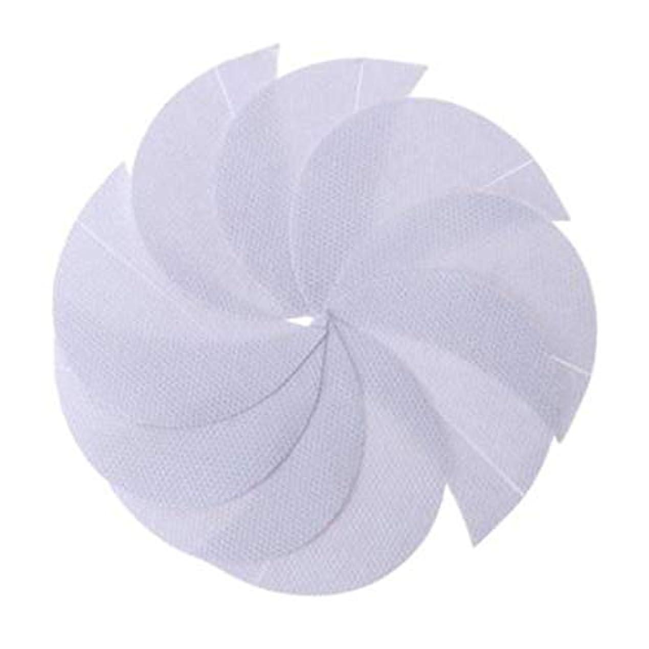 消費するバケツ追記Rabugogo 100個/袋不織布アイシャドーシールドアイシャドージェルパッドパッチアイシャドーステンシル防止まつげエクステ化粧品残留物