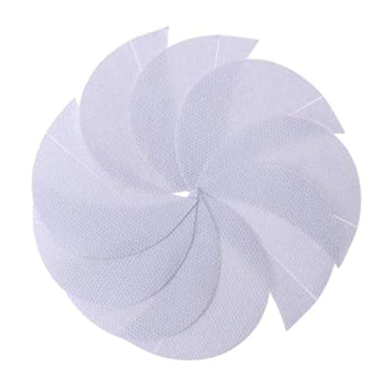 実質的にジャンク移住するRabugogo 100個/袋不織布アイシャドーシールドアイシャドージェルパッドパッチアイシャドーステンシル防止まつげエクステ化粧品残留物