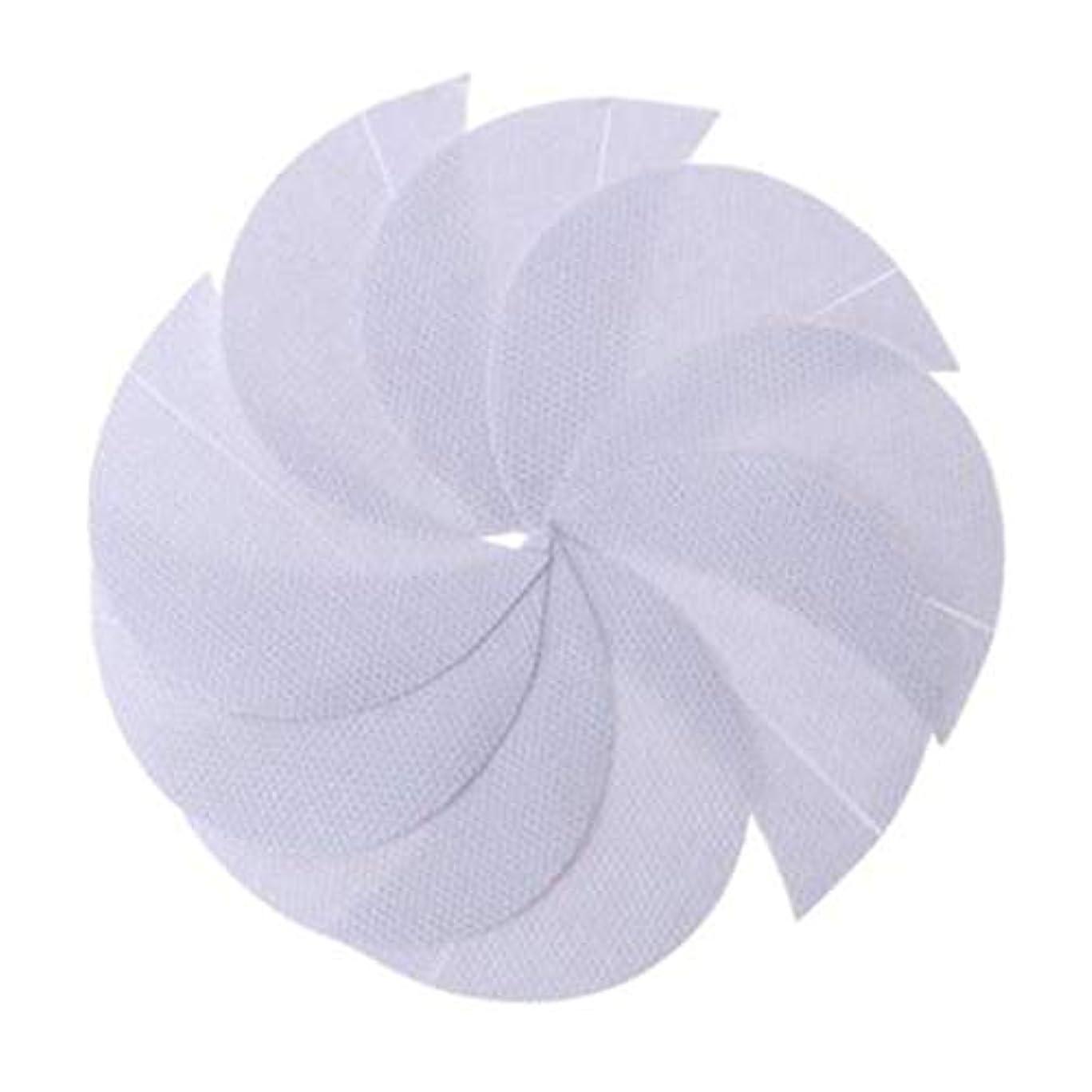 障害進む呼びかけるRabugogo 100個/袋不織布アイシャドーシールドアイシャドージェルパッドパッチアイシャドーステンシル防止まつげエクステ化粧品残留物