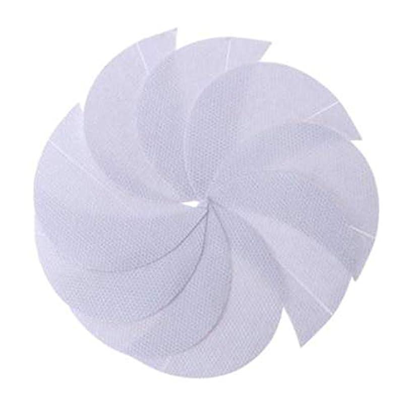 添付動くカラスRabugogo 100個/袋不織布アイシャドーシールドアイシャドージェルパッドパッチアイシャドーステンシル防止まつげエクステ化粧品残留物