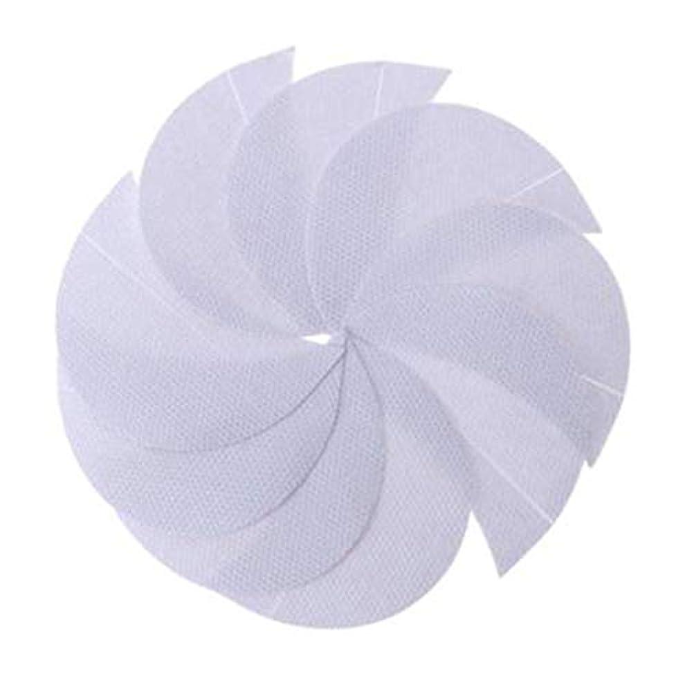 密輸粒子玉ねぎRabugogo 100個/袋不織布アイシャドーシールドアイシャドージェルパッドパッチアイシャドーステンシル防止まつげエクステ化粧品残留物