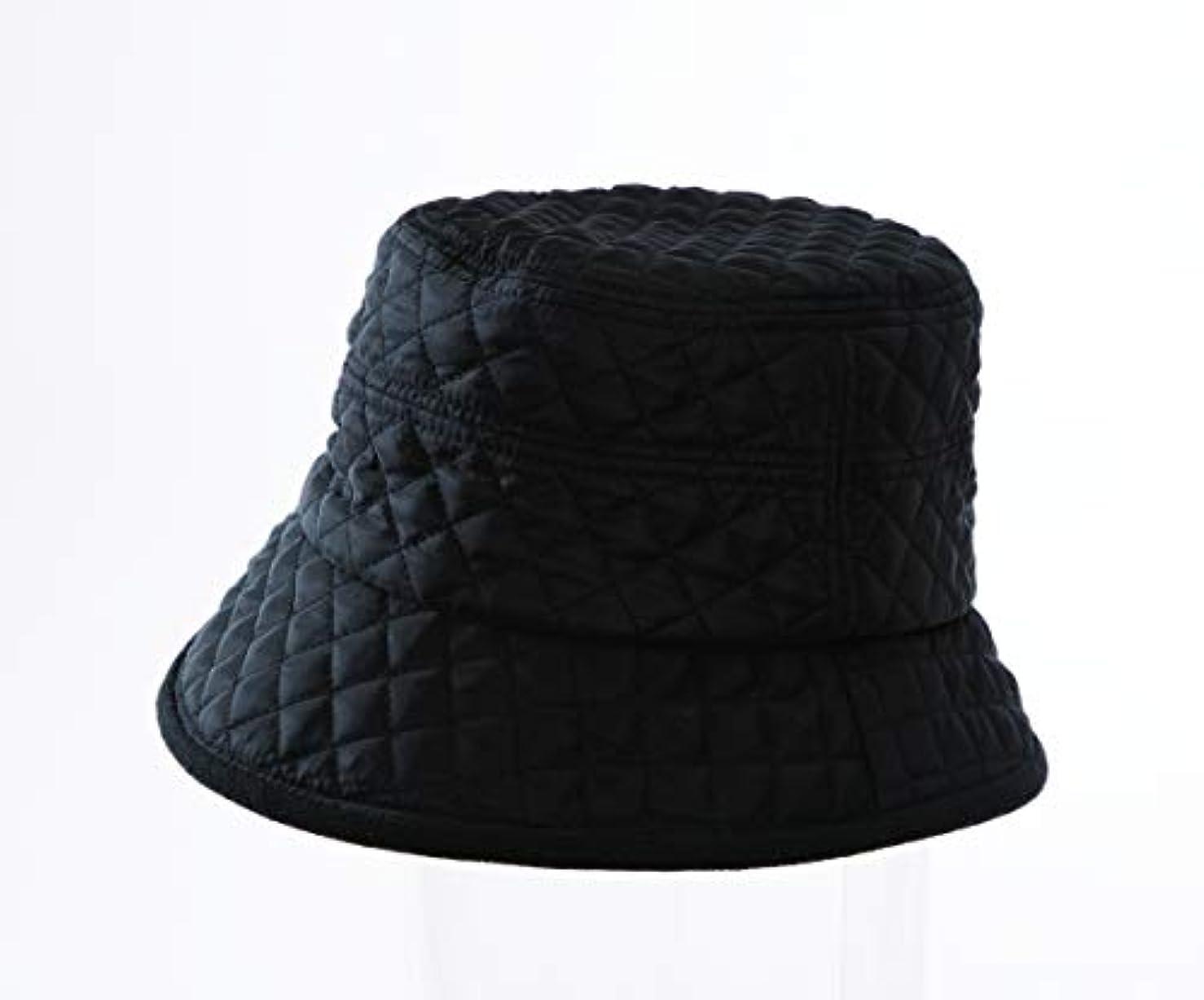 証書ヘルシー激しいHOTα あったかキルティング帽子 ブラック
