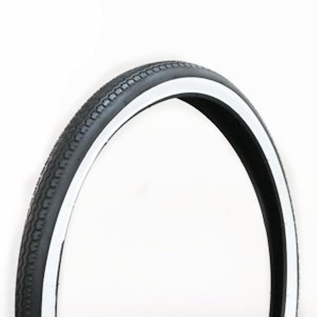 静的タイマー兵士自転車用タイヤ 白黒 24×1-3/8 W/O 1本 チューブは付属しません