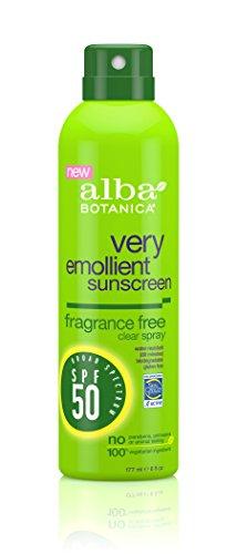 Alba Botanica Sensitive Sunscreen Fragrance Free Clear Spray spf 50 6oz