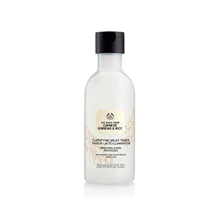 ダニ矛盾する敷居THE BODY SHOPザボディショップライスクラリファイイングミルキートナー250ML韓国の有名な化粧品ブランドの人気トナースキン洗浄スキンケア本当に