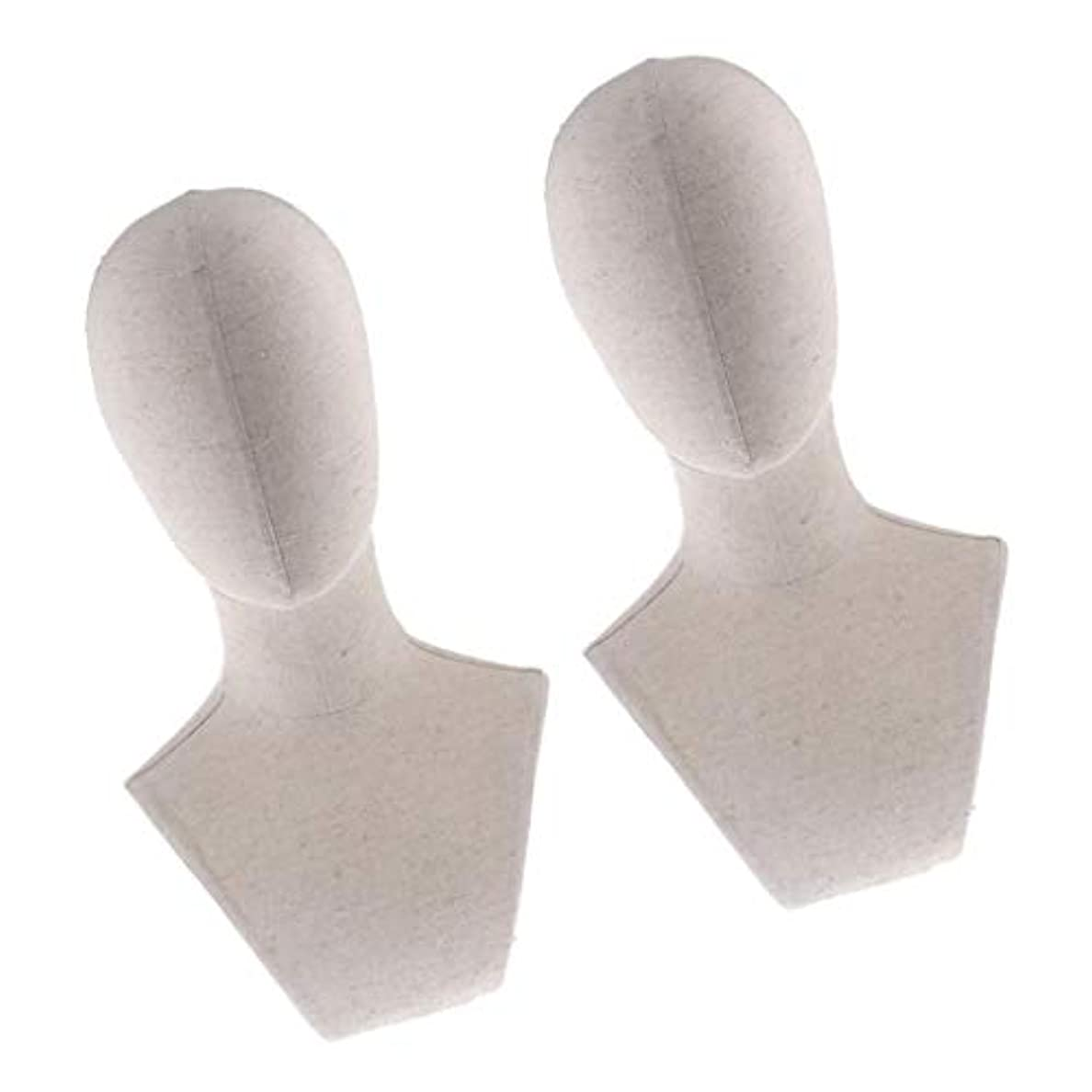 DYNWAVE プラスチック マネキン ヘッド トルソー 頭 カット練習 頭部 女性 ウィッグマネキン ウィッグスタンド2個