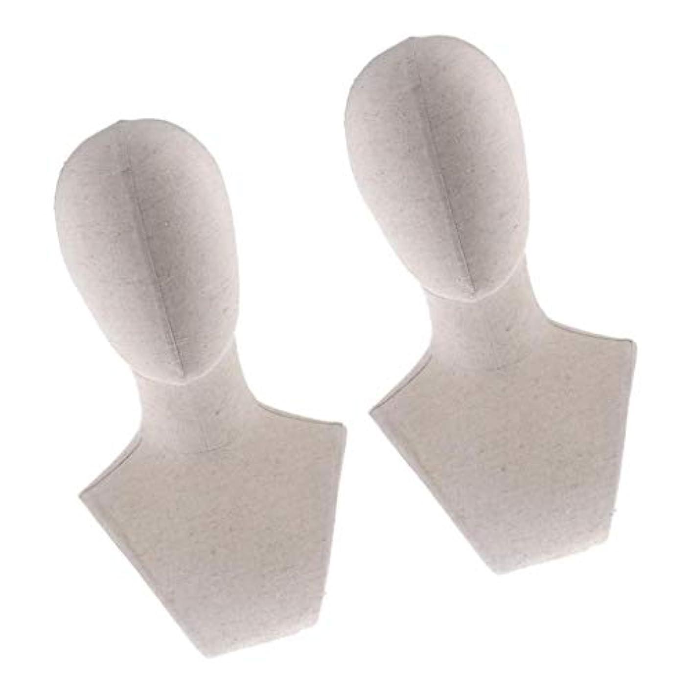 空洞叙情的な前投薬DYNWAVE プラスチック マネキン ヘッド トルソー 頭 カット練習 頭部 女性 ウィッグマネキン ウィッグスタンド2個