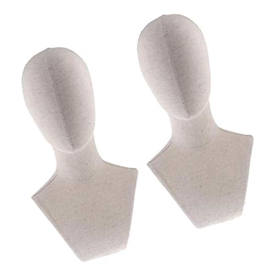 微生物反響する自発的Perfeclan マネキンヘッド ウィッグスタンド練習 頭部 女性ウィッグマネキン ディスプレイ 帽子スタンド 2個入り