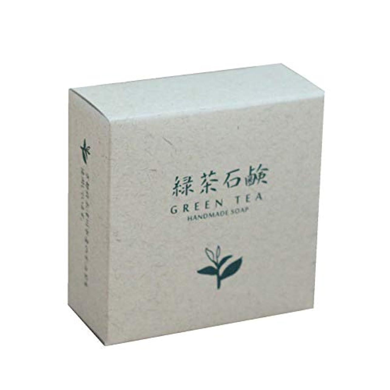 花火生城緑茶石鹸