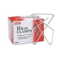 Ideal Clamps, Steel Wire, Large, 5.1cm - 1.6cm, Silver, 12/Box
