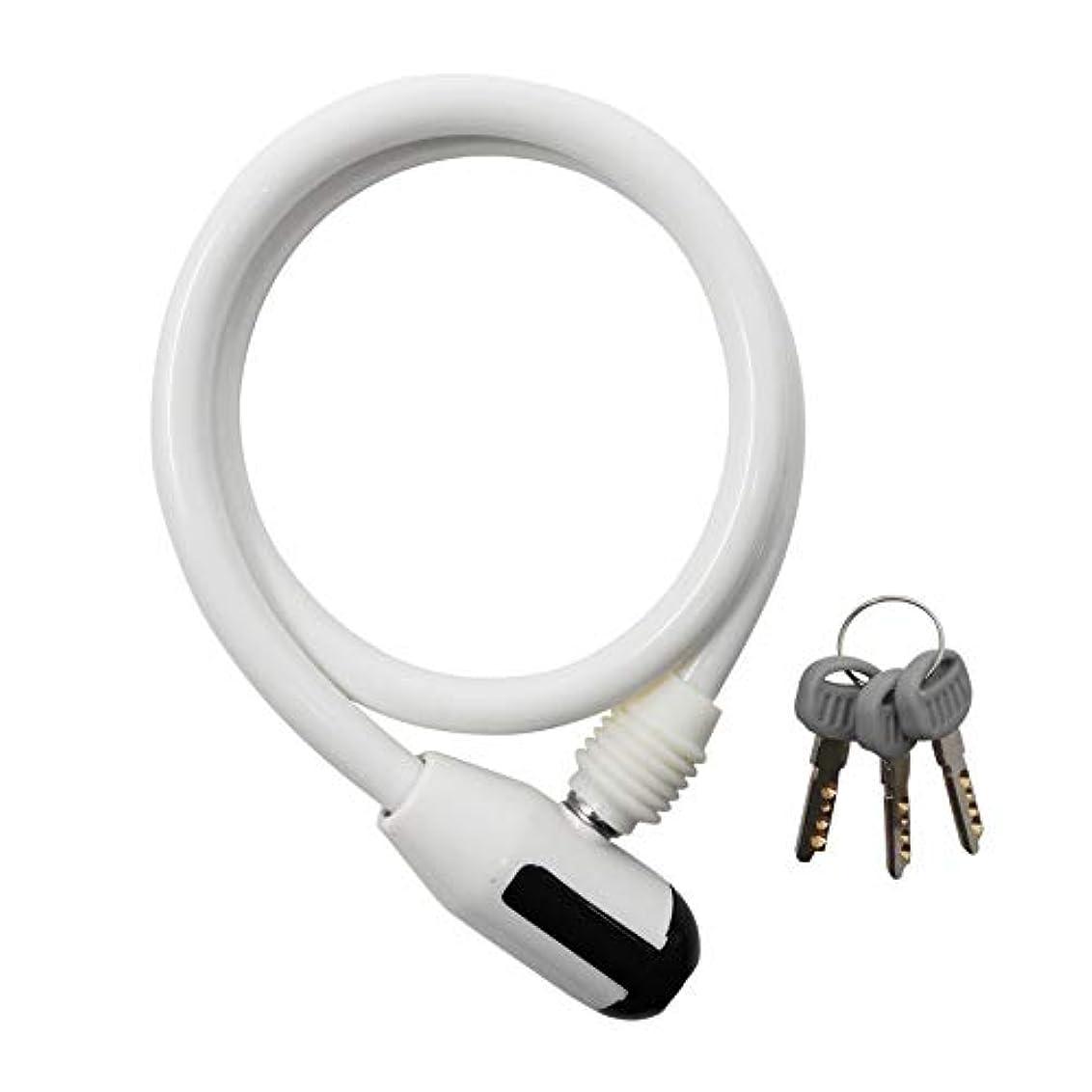 助けになるドナウ川異形サギサカ(SAGISAKA) ミニディンプルワイヤーロック2C 60cm ホワイト 43614