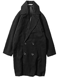 [Nana_Collection(ナナコレクション)] 秋 男性 長袖 コート ロング ダブル ウール 裏地 きれいめ ポケット ビジネス
