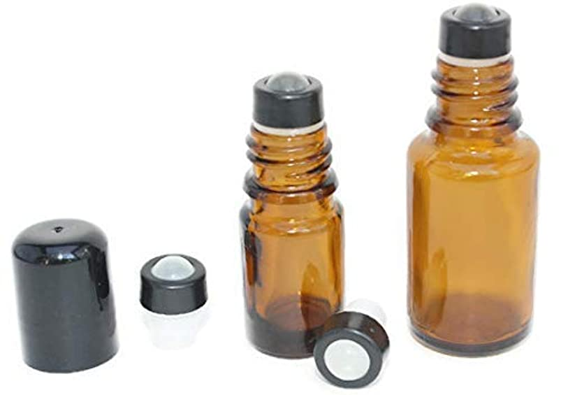 応じるのど調和Essential Oil Roller Inserts for 5 and 15ml Essential Oil Bottles. Pack of 12 GLASS Leak Proof with removable...