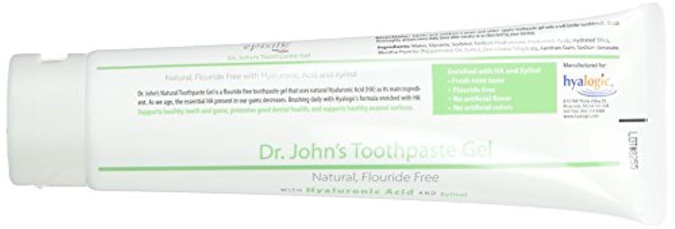 滑りやすいブレイズウェイトレスHyalogic, Dr. John's Toothpaste Gel w/HA 4.58 oz