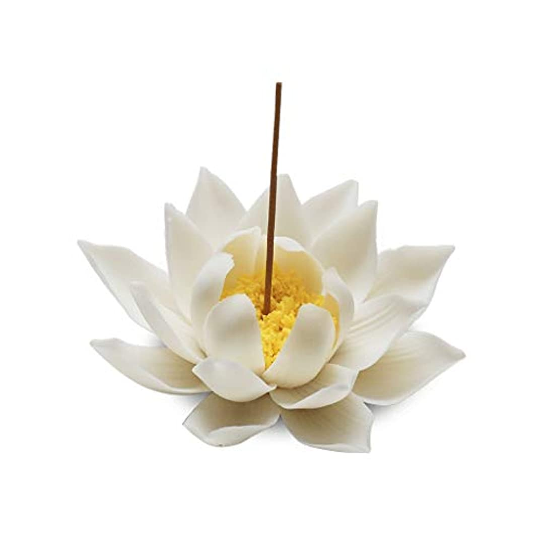スマッシュ別々に野な芳香器?アロマバーナー セラミック蓮香バーナー家の装飾香スティックホルダー仏教アロマセラピーホームリビングルームの茶屋 芳香器?アロマバーナー (Color : A)