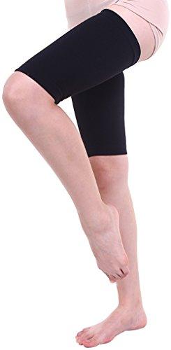 (マモーレ) Mamo-Re シルク と ゲルマ の 太もも 用 サポーター 女性鍼灸師が開発 太もも燃焼 むくみ セルライト 除去 婦人科系 に作用 両足セット(S、ブラック)