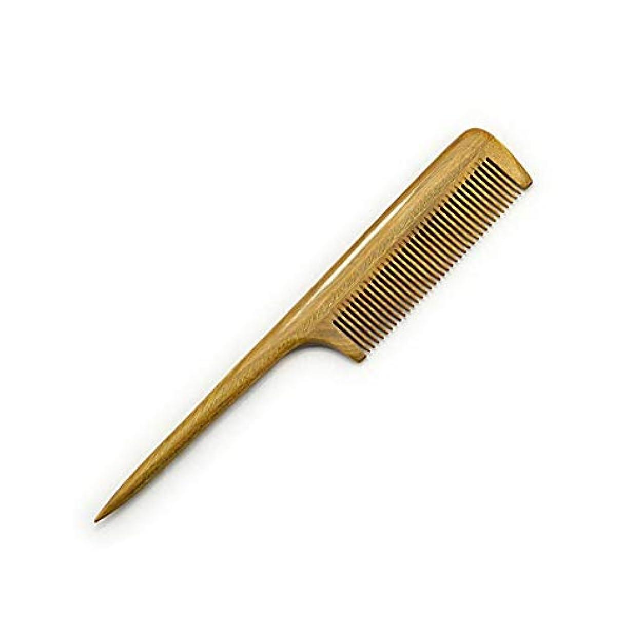 勇気のある圧倒的トライアスロンFashian髪の櫛 - 木製テールくしをもつれ解除ファイン歯 - 静的な天然サンダルウッドのくし ヘアケア