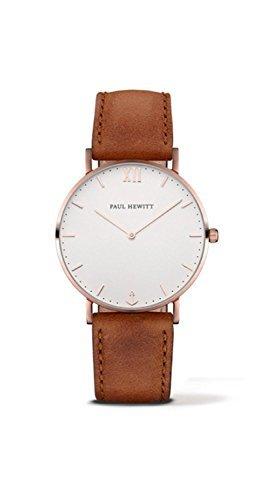 [ポールヒューイット]Paul Hewitt 腕時計 ウォッチ ブラウン/ローズゴールド 39mm レディース メンズ [並行輸入品]
