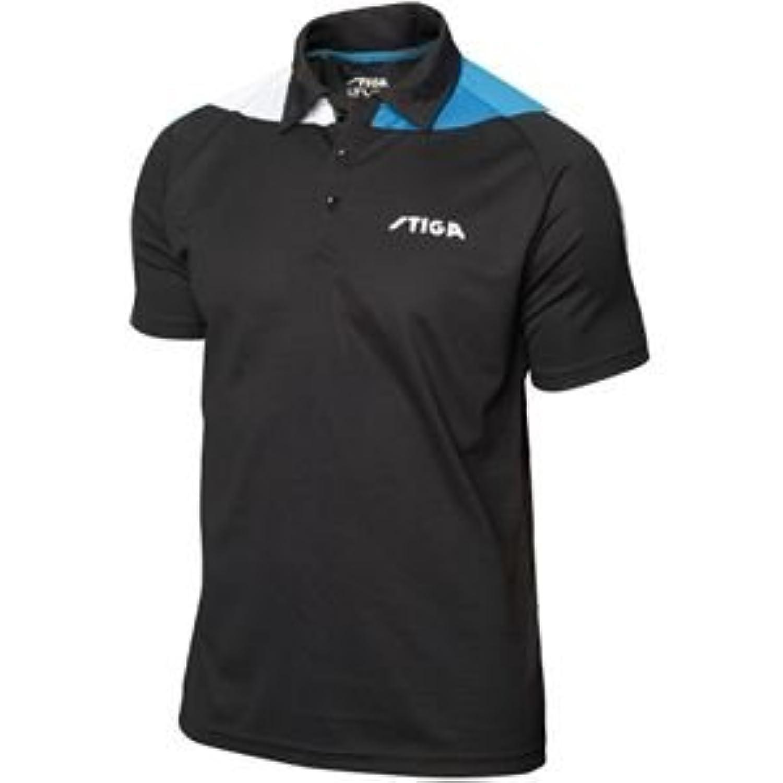 STIGA(スティガ) 卓球ユニフォーム PACIFIC SHIRT パシフィックシャツ ブラック×ブルー XS