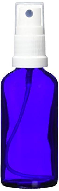 マントル好み黙認するease 保存容器 スプレータイプ ガラス 青色 50ml