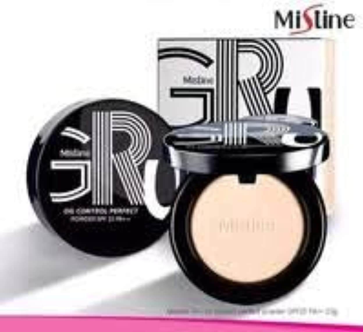 ありふれたバイオリニスト郊外Mistine Gru Oil Control Perfect Powder SPF25 Shade S2 Medium
