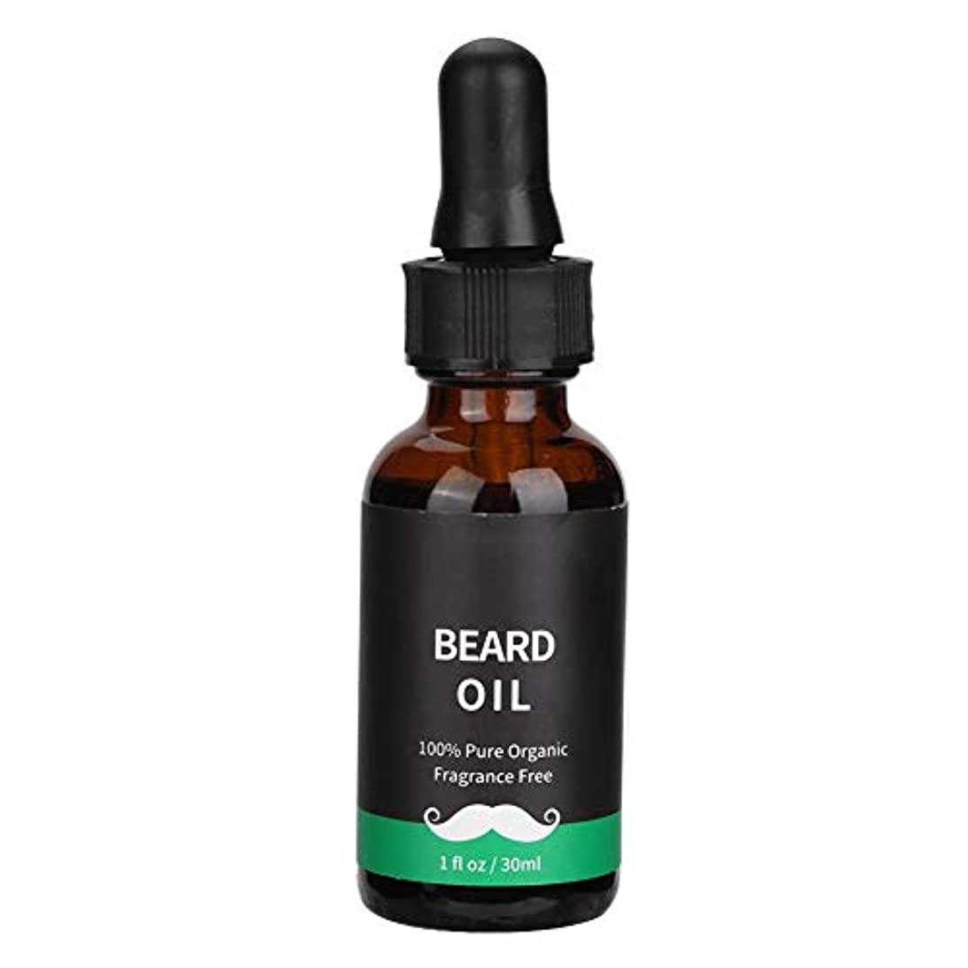 男性のためのあごひげ成長油、天然液体男性あごひげヒゲ成長ケアオイルバーム(30ML)