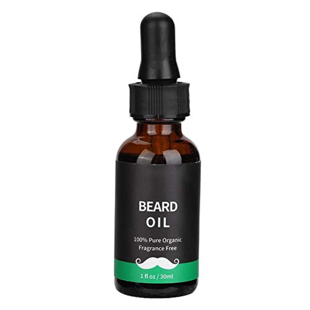 距離鉱夫包帯男性のためのあごひげ成長油、天然液体男性あごひげヒゲ成長ケアオイルバーム(30ML)