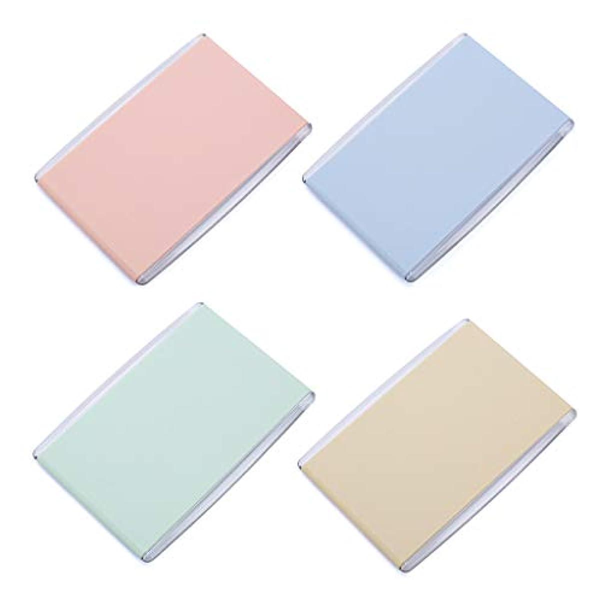 印象的な分散努力Manyao 1Pc女性の女の子ポータブル折りたたみ長方形7.8x11cmミニコンパクトポケットミラーキャンディーカラー片面の旅行デスクトップの化粧品ツール