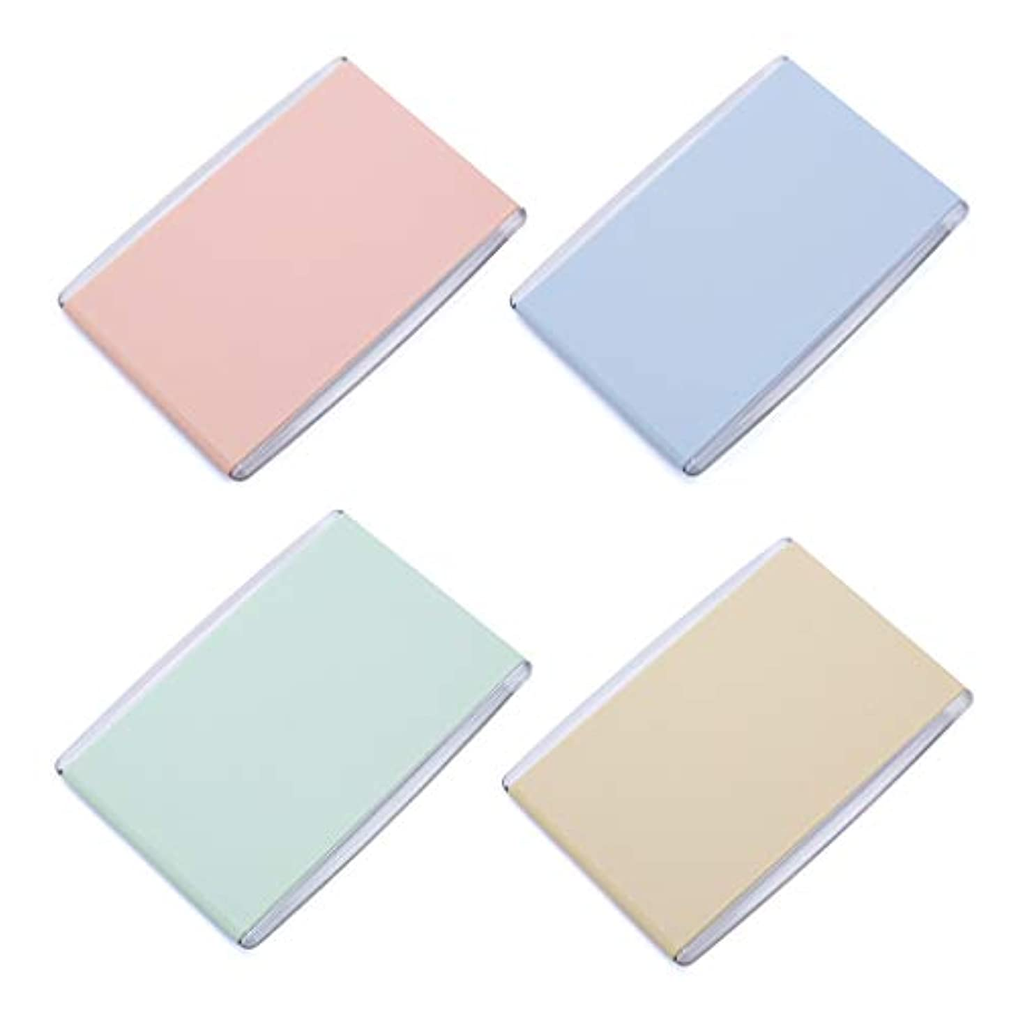 Manyao 1Pc女性の女の子ポータブル折りたたみ長方形7.8x11cmミニコンパクトポケットミラーキャンディーカラー片面の旅行デスクトップの化粧品ツール