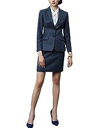 スーツ レディース2点セット タイトスカート ジャケット 洗える 洗濯 就活 通勤 卒業式 おおきいサイズ