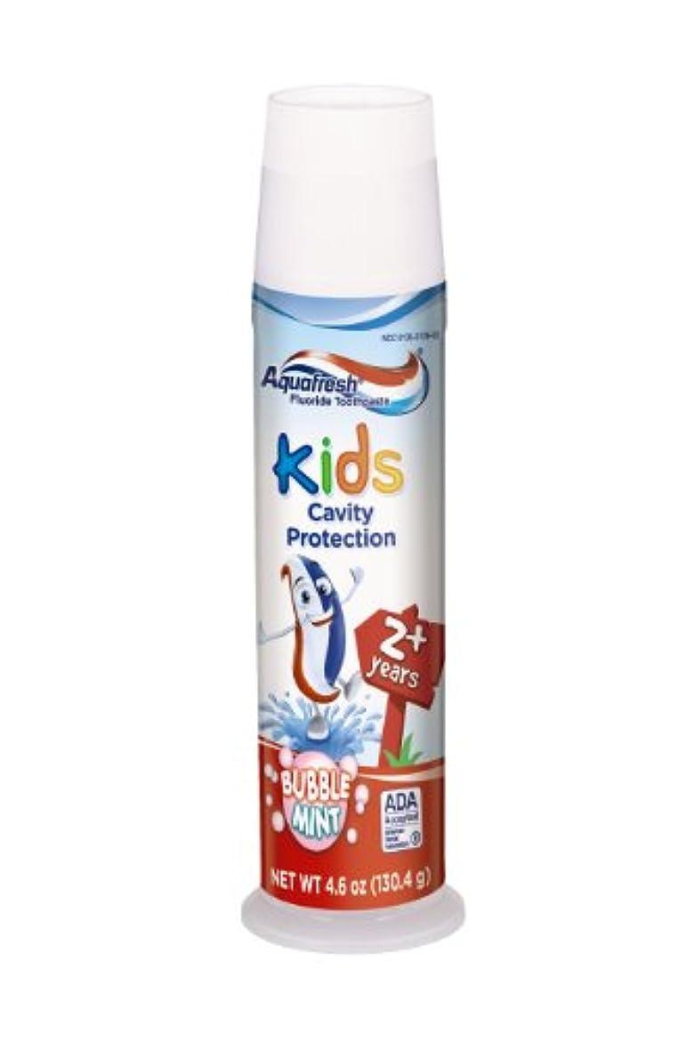 摘むテキスト破滅Aqua Fresh アクアフレッシュ子供の歯磨き粉、バブルミント、4.6オンス