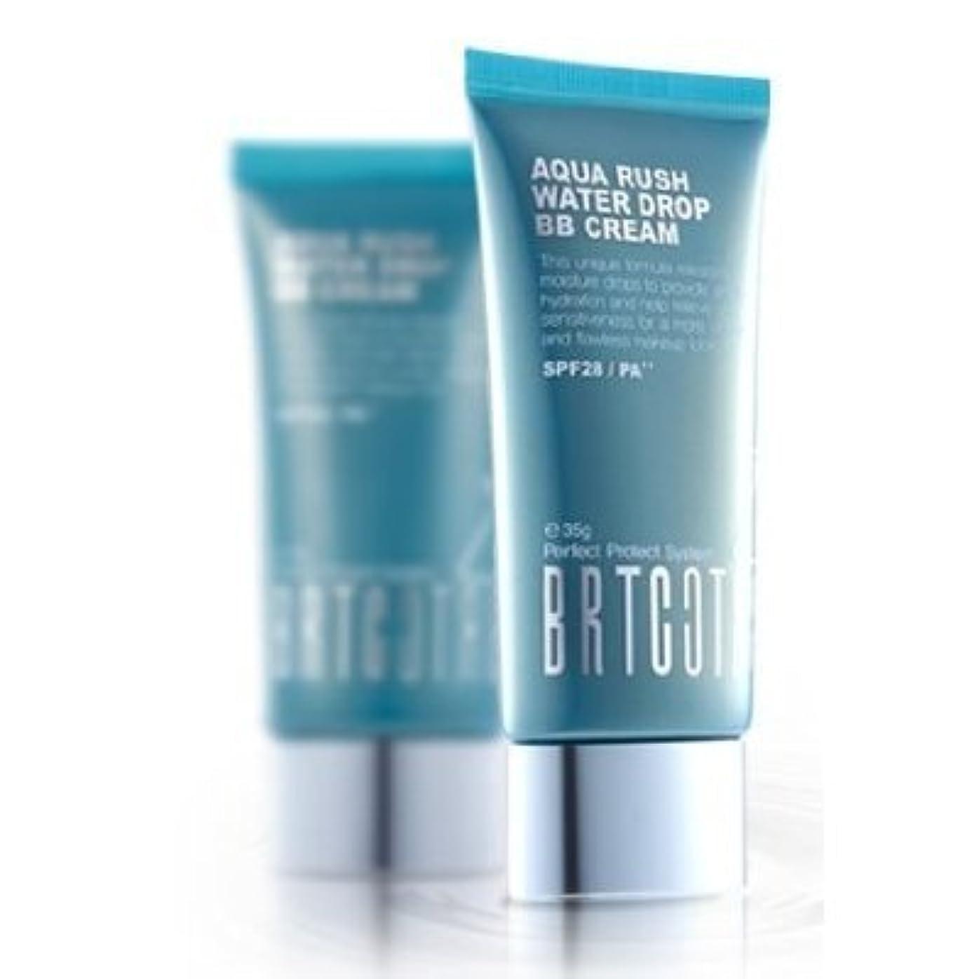 舗装輝く浴室KOREAN COSMETICS, BRTC, Aqua Rush Water Drop BB Cream 60g (intensive moisturizing, skin tone correction, UV protection...
