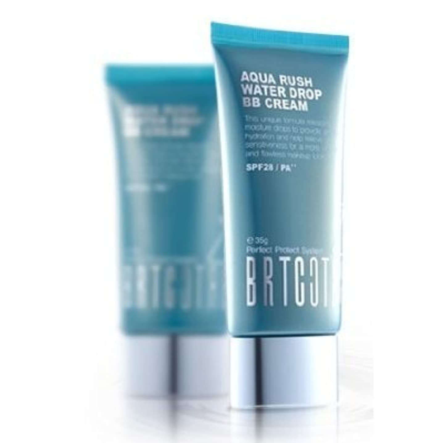 荒野反発する州KOREAN COSMETICS, BRTC, Aqua Rush Water Drop BB Cream 60g (intensive moisturizing, skin tone correction, UV protection...